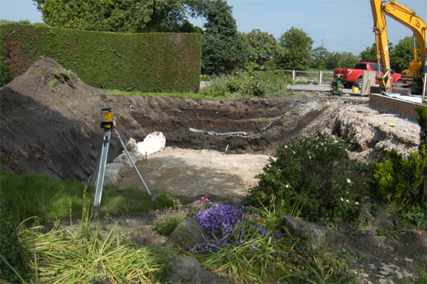 The boulders found were of no use for landscaping so they have been left in place to be buried