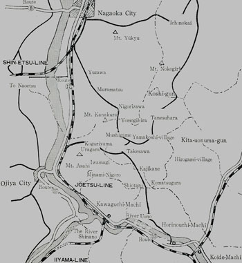 Map made by hand in 1966