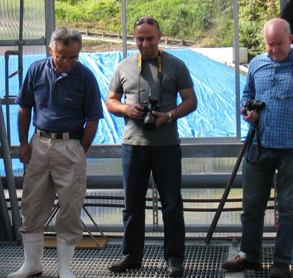 Seniichi Mano, Raad Hassan & Mark Cooper at Izumiya
