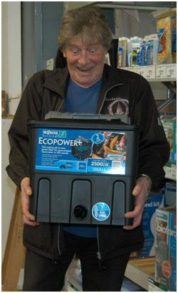 Peter Waddington Holding Filter Box