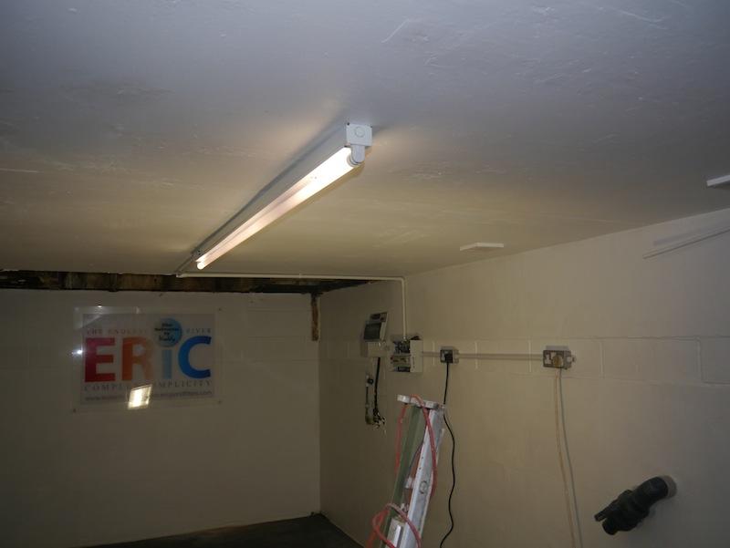 New light fittings for filter house