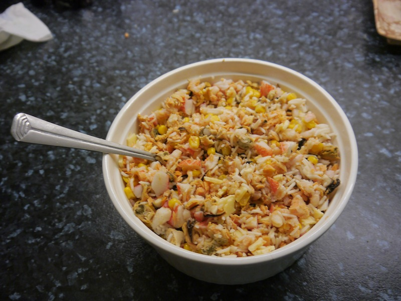 Mixed koi food