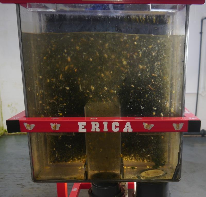 Waste through ERIC filter