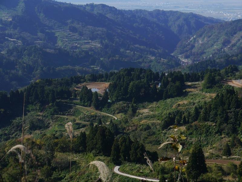 single track 'road' that links Mushigame to Yomogihira